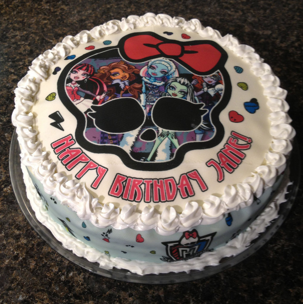 Monster High Birthday Cake Images