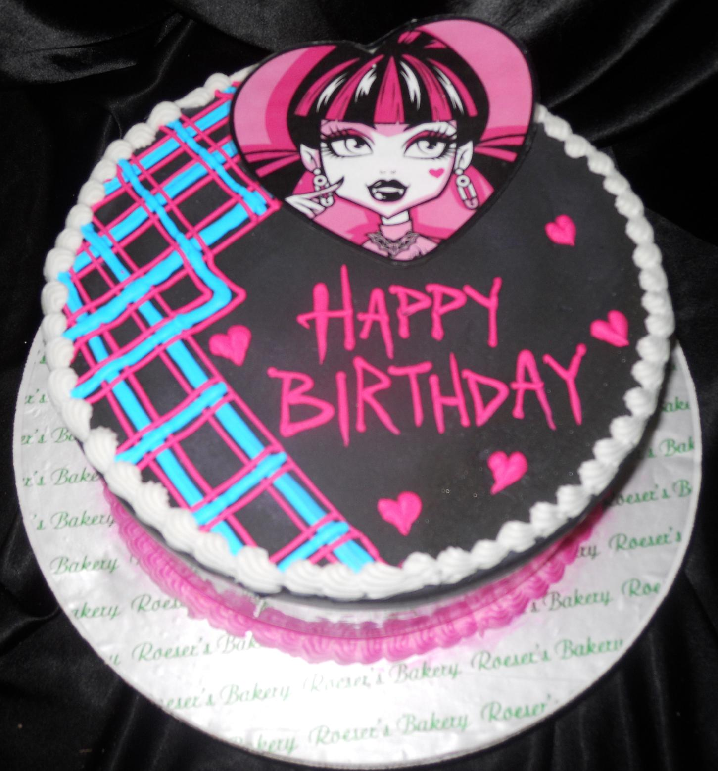 Ghoulia Birthday Cake