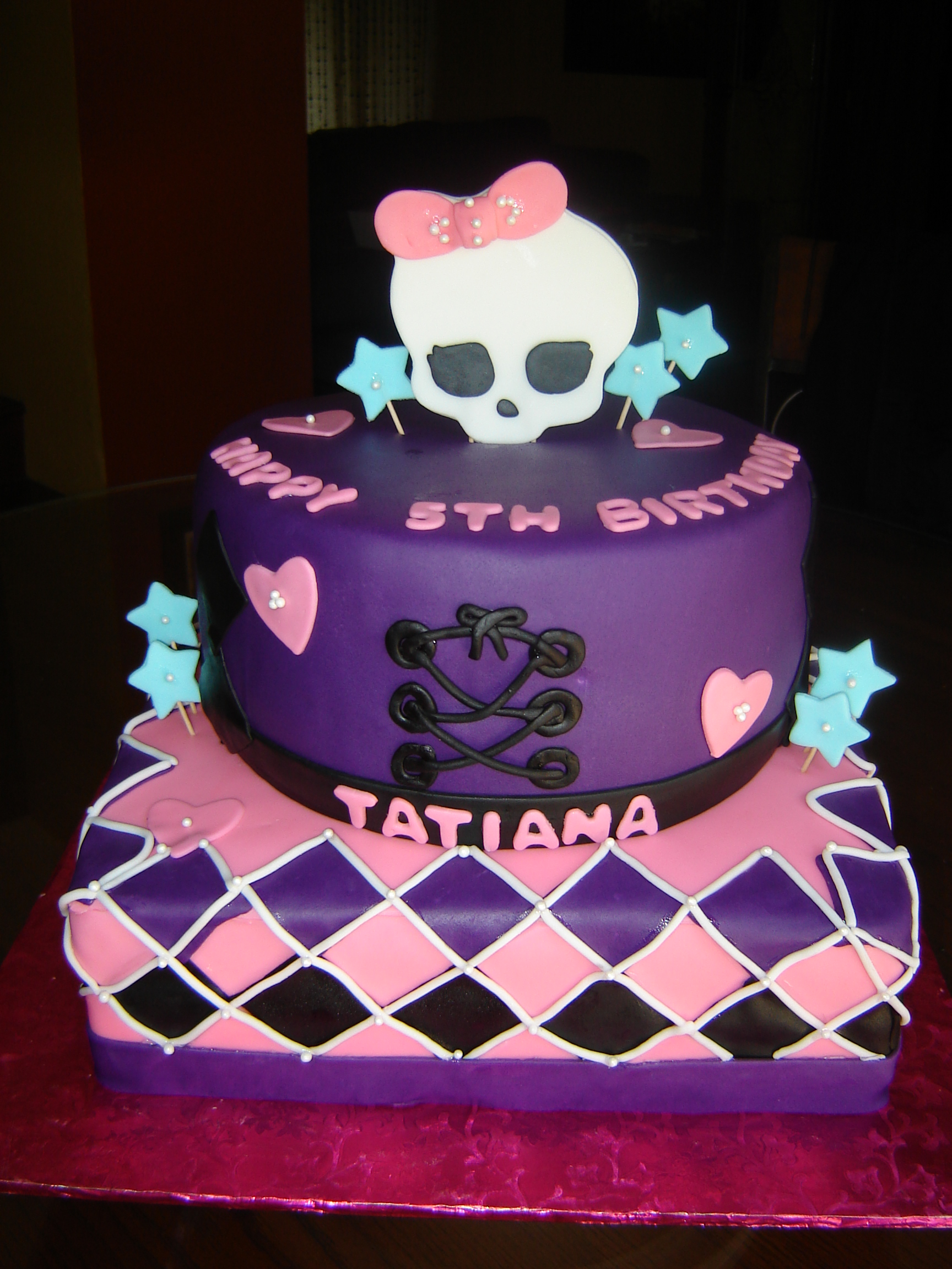 Decoration Of Birthday Cake : Monster High Cakes   Decoration Ideas Little Birthday Cakes