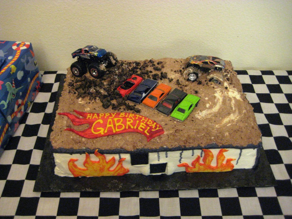 Monster Truck Birthday Cakes