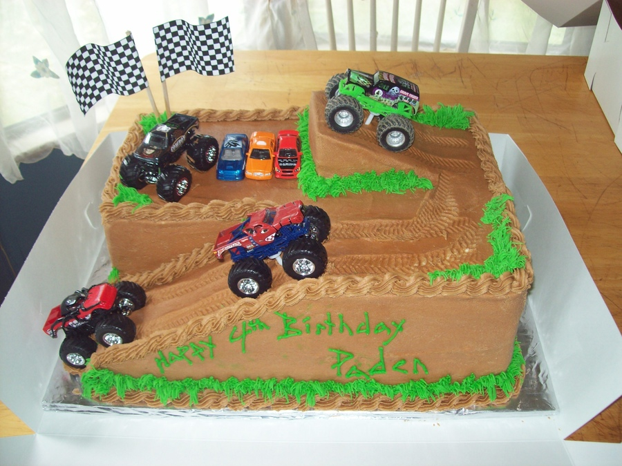 Images Of Monster Truck Birthday Cakes