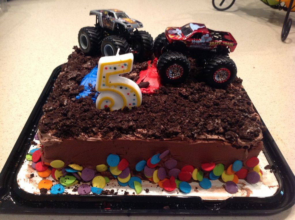 Monster Truck Jam Cake Decorations