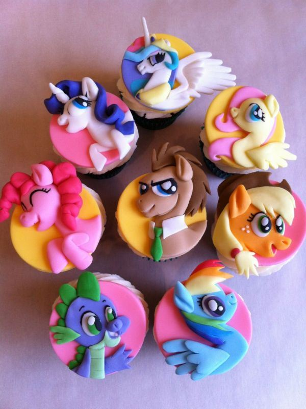 My Little Pony Cupcake Cake