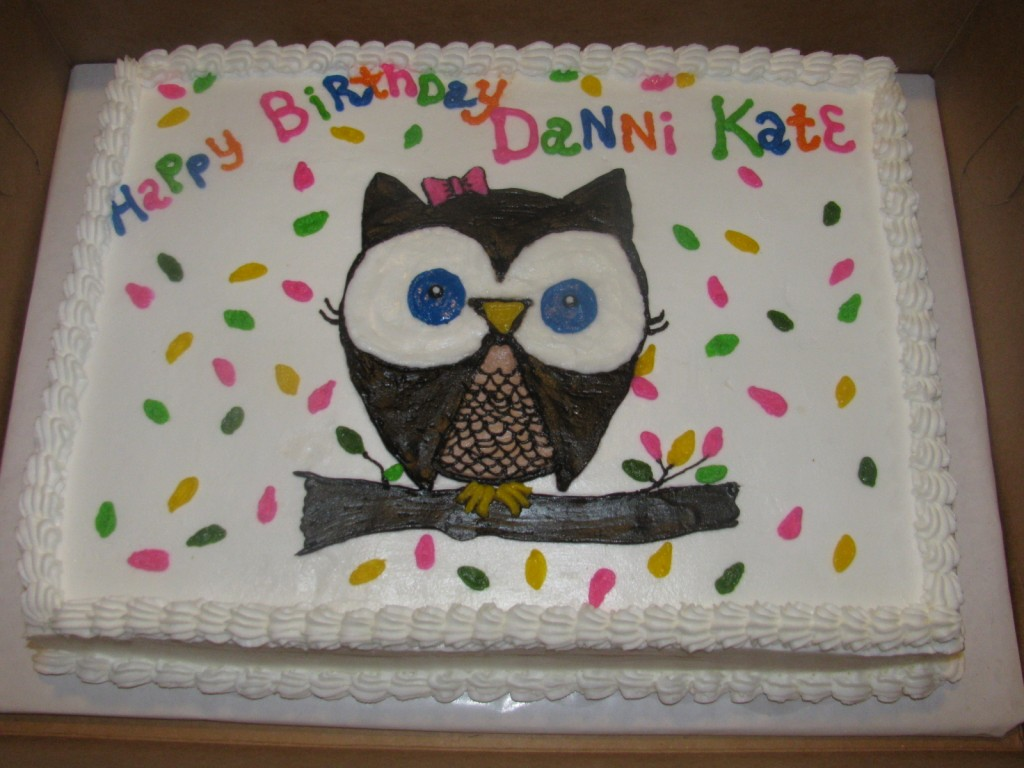 Owl Baby Shower Cake