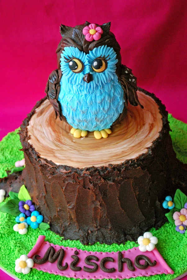 Owl Birthday Cakes Recipes
