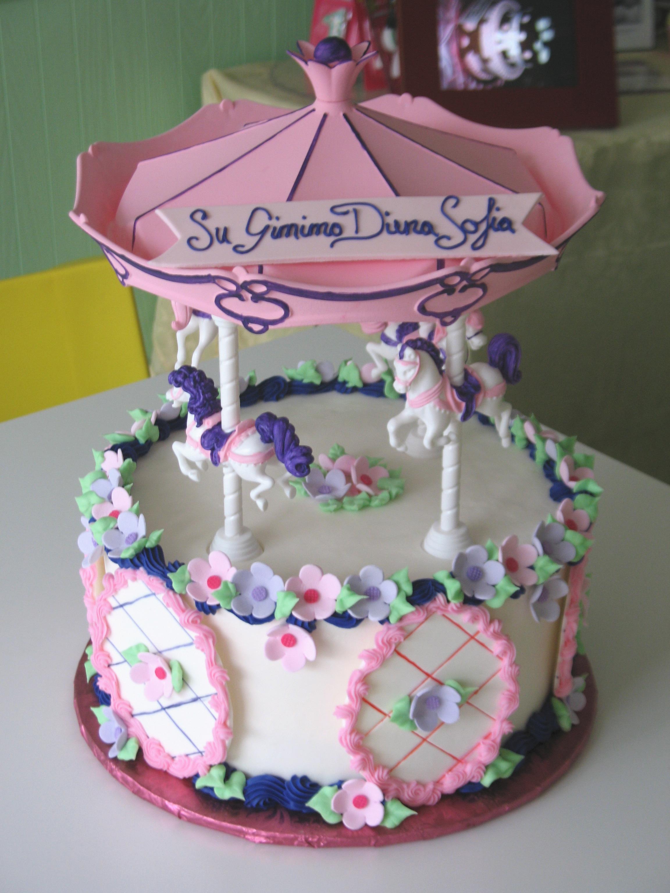 Carousel Cakes Decoration Ideas Little Birthday Cakes
