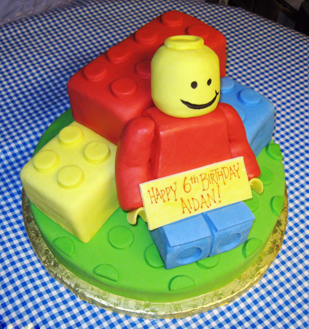 Lego Themed Birthday Cakes Pictures Of