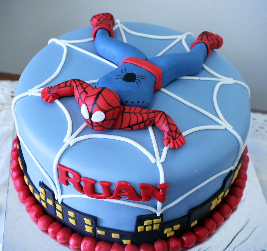 Pictures of Spiderman Birthday Cakes