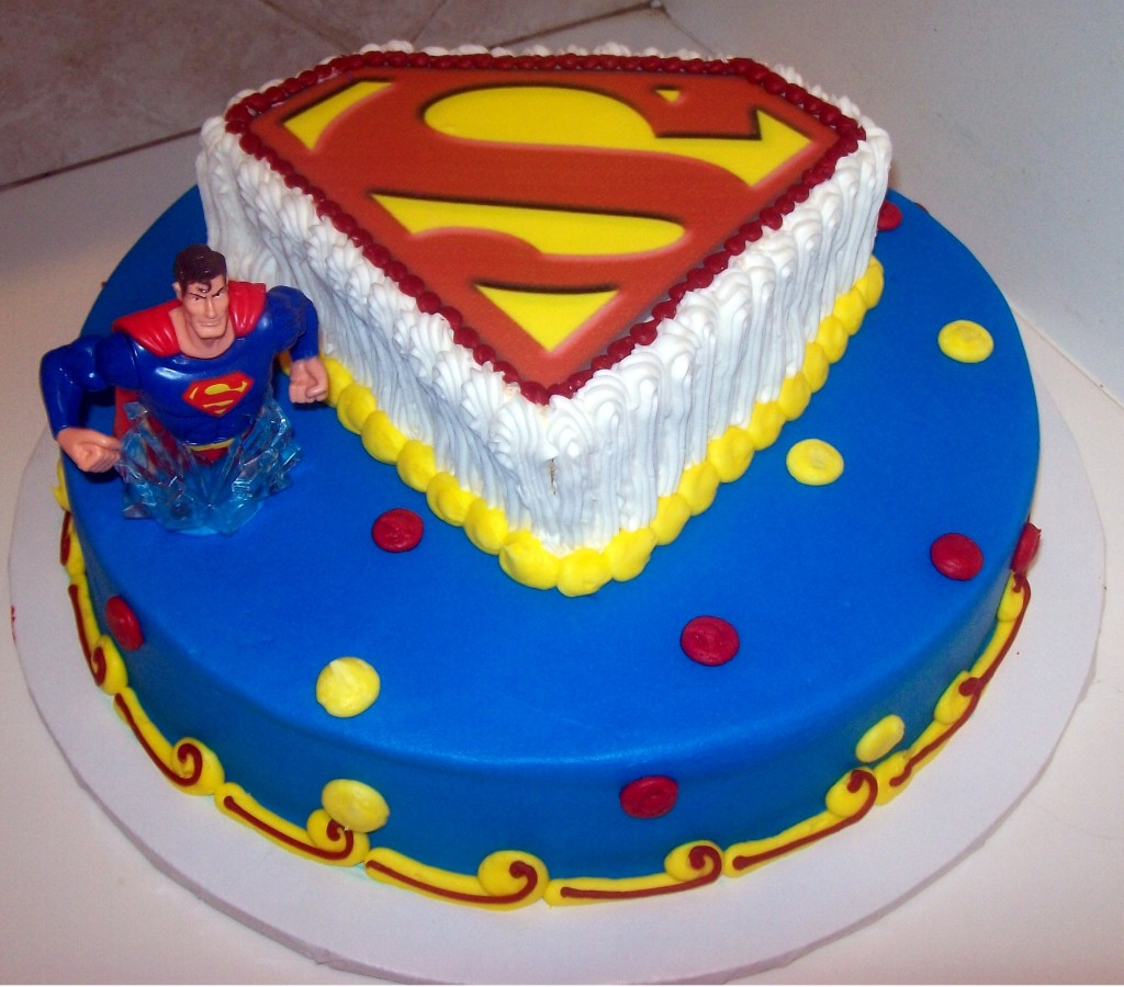 Superman Birthday Cake Topper