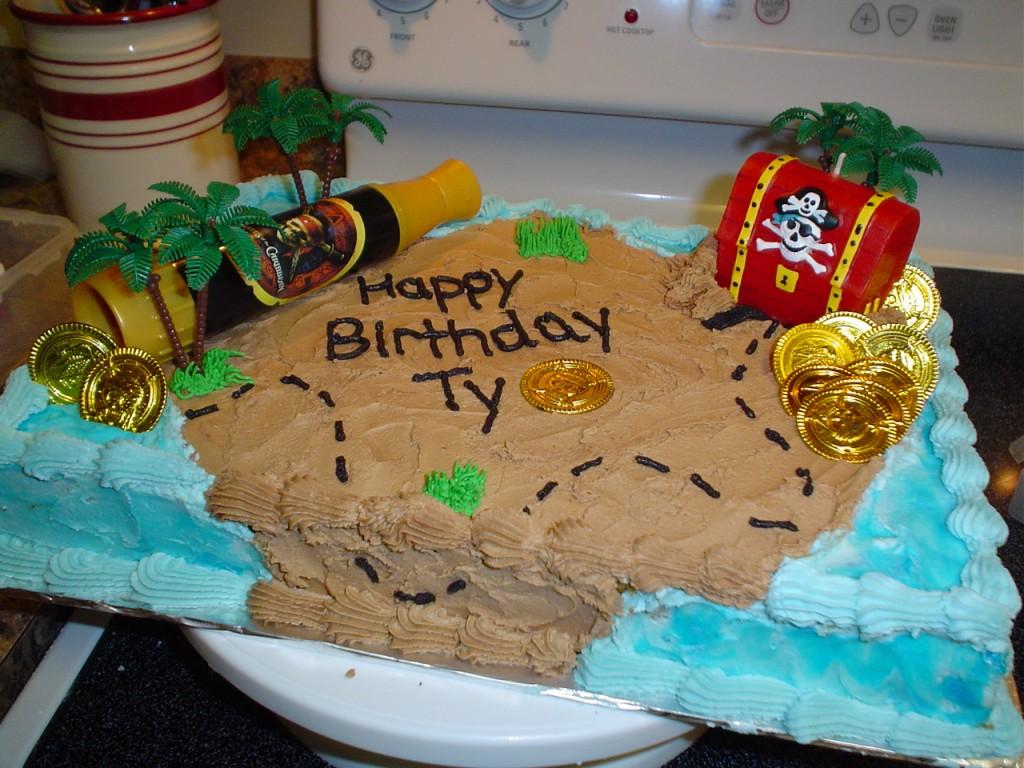 Pirate Themed Birthday Cakes