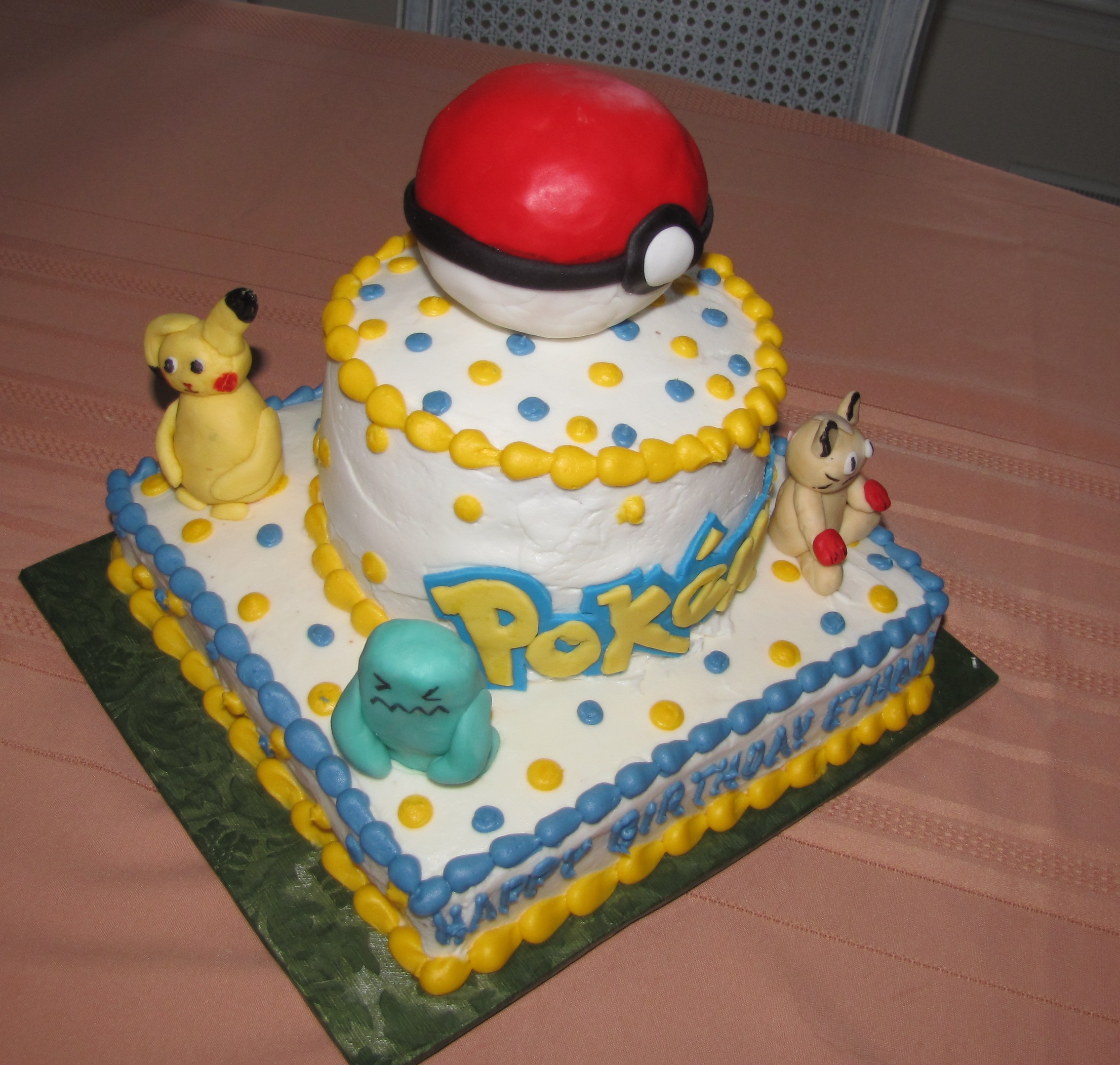 Pokemon Birthday Cakes And Cup Cakes