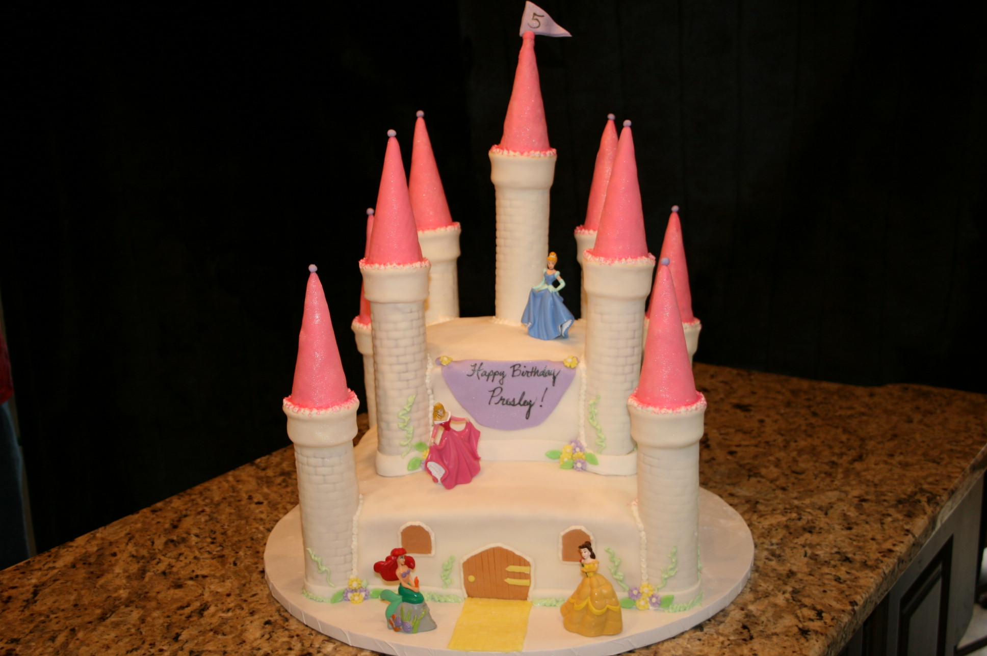 Simple Princess Cake Design : Castle Cakes   Decoration Ideas Little Birthday Cakes