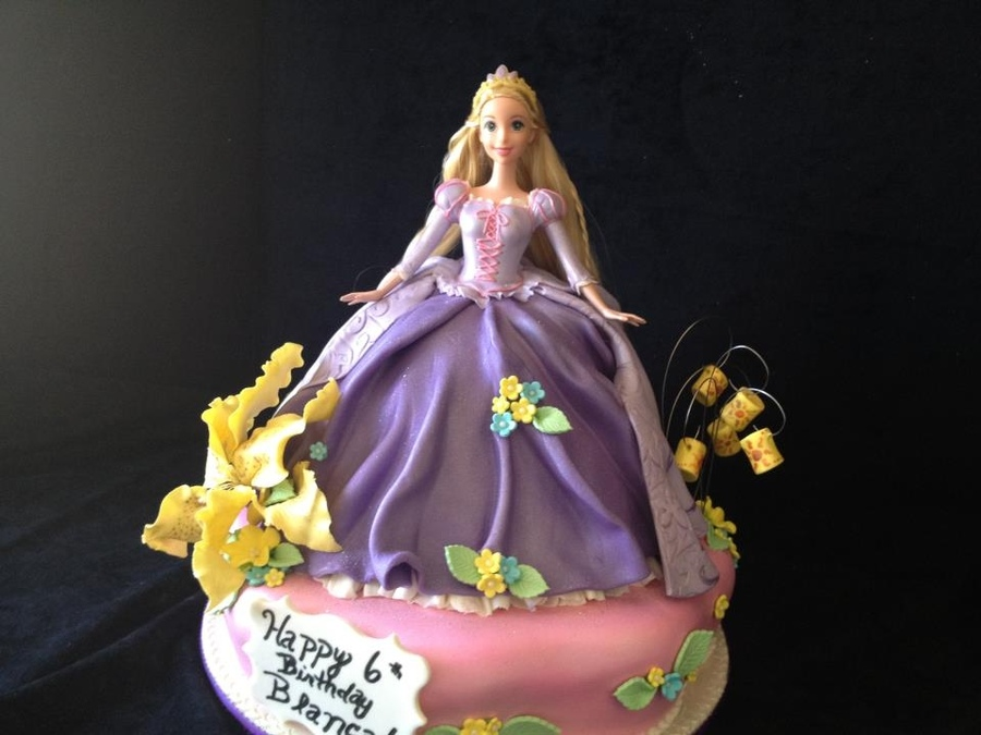 Rapunzel Birthday Cake
