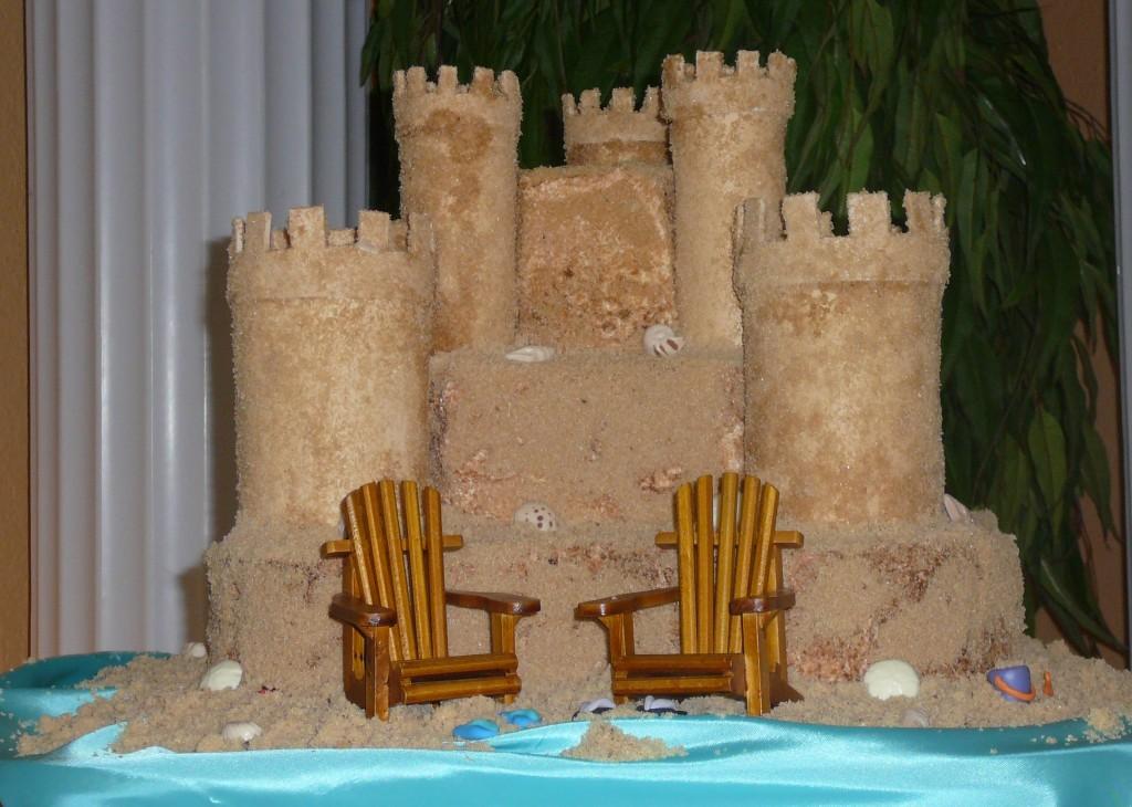 Sand Castle Wedding Cake