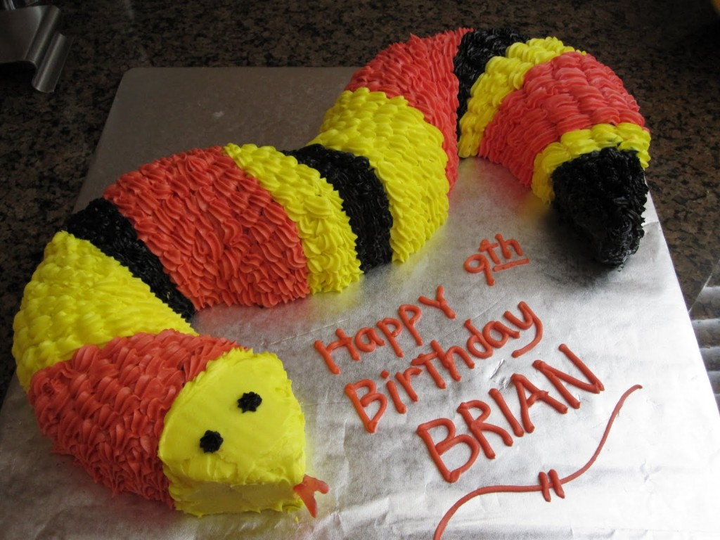 Snake Cakes Decoration Ideas Little Birthday Cakes