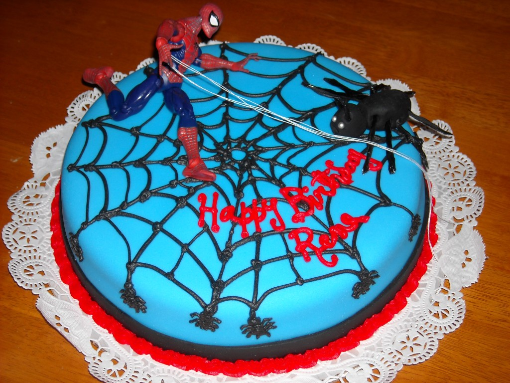 Easy Way to Make Kids Birthday Cakes Spiderman