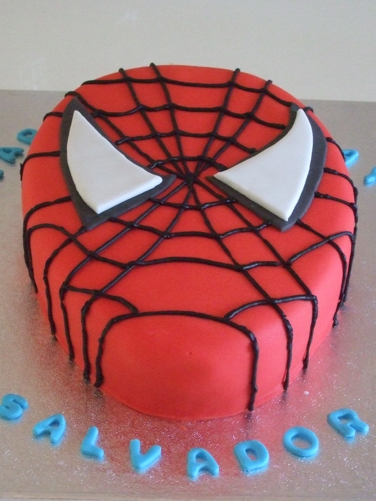 Spiderman Cookie Cake