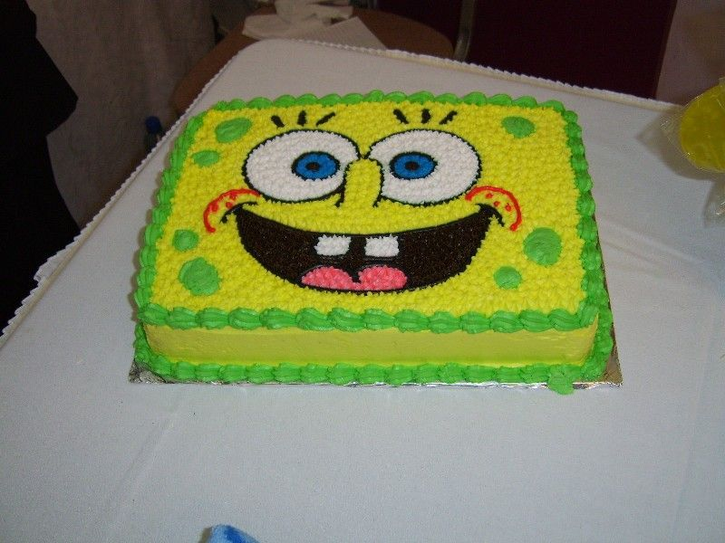 Sponge Cake Decoration Images : Happy birthday, Cha! - Birthdays - SpongeBuddy Mania ...