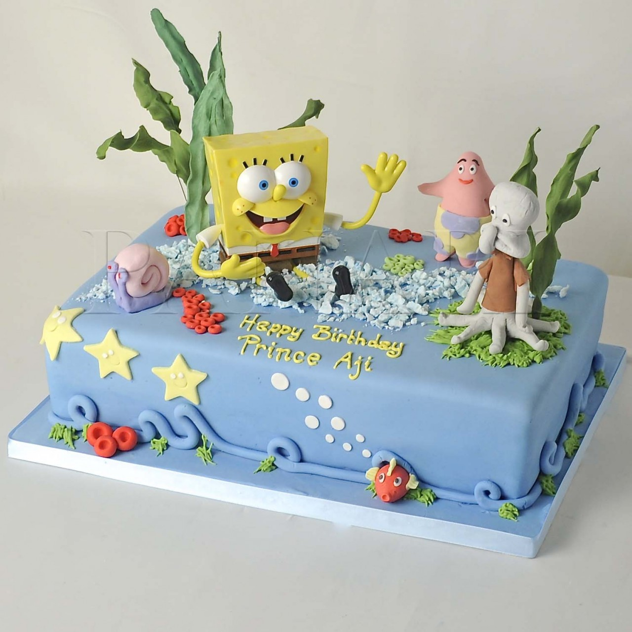 Spongebob Cake Ideas With Fondant