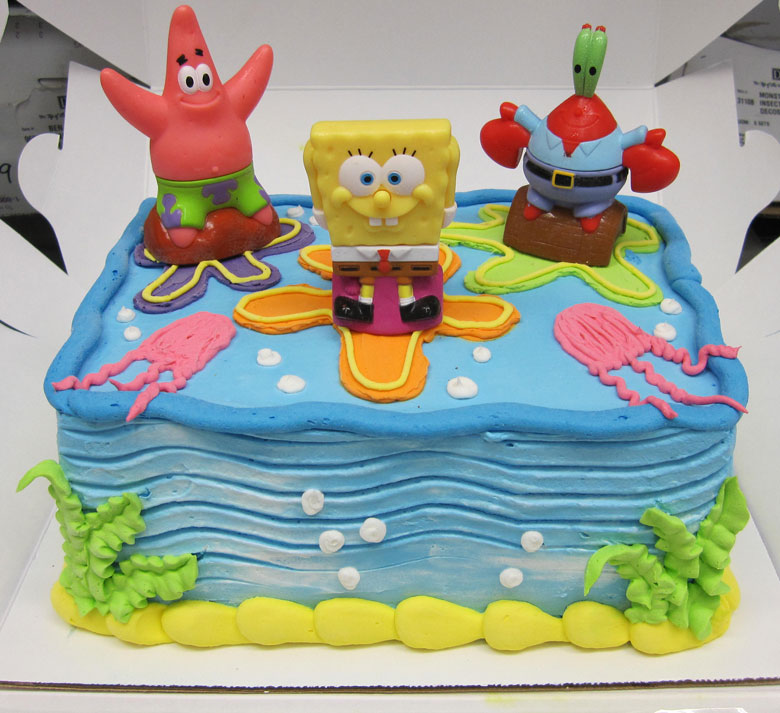 Spongebob Squarepants Birthday Cake Icing