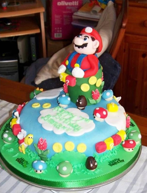 Super Mario Bbrothers Birthday Cake