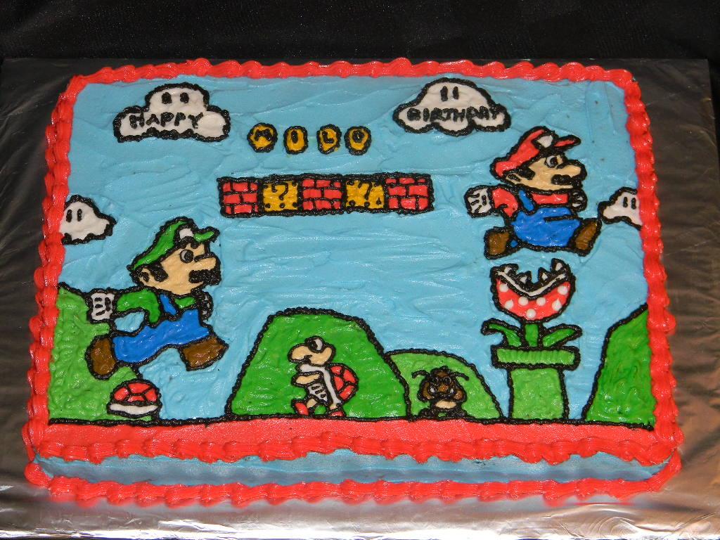 Super Mario Bros Cake Ideas