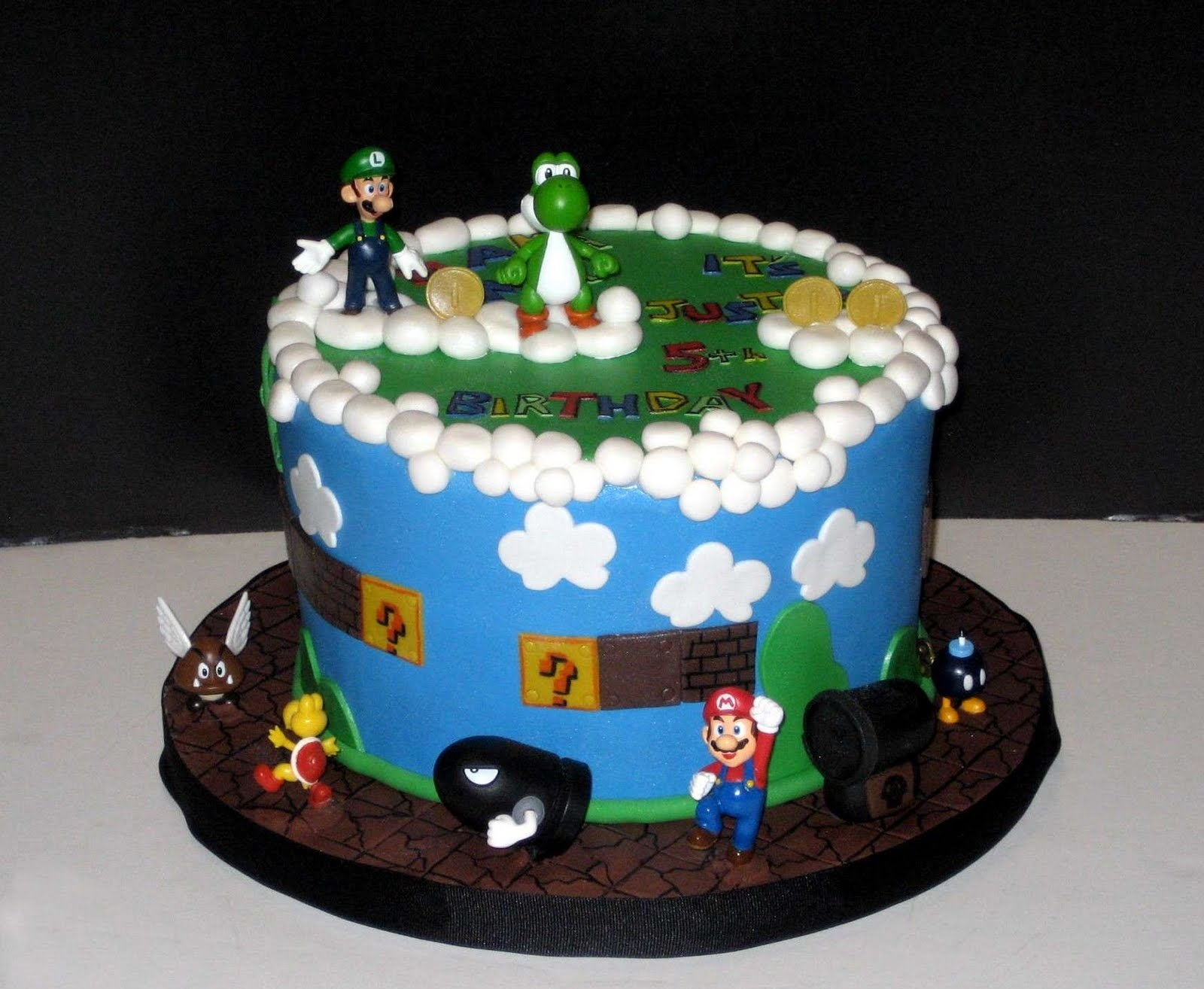 Mario Cakes Decoration Ideas Little Birthday Cakes