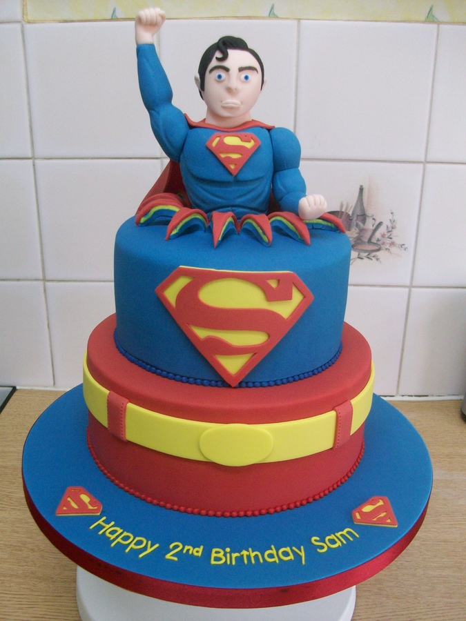 Superman And Supergirl Birthday Cake