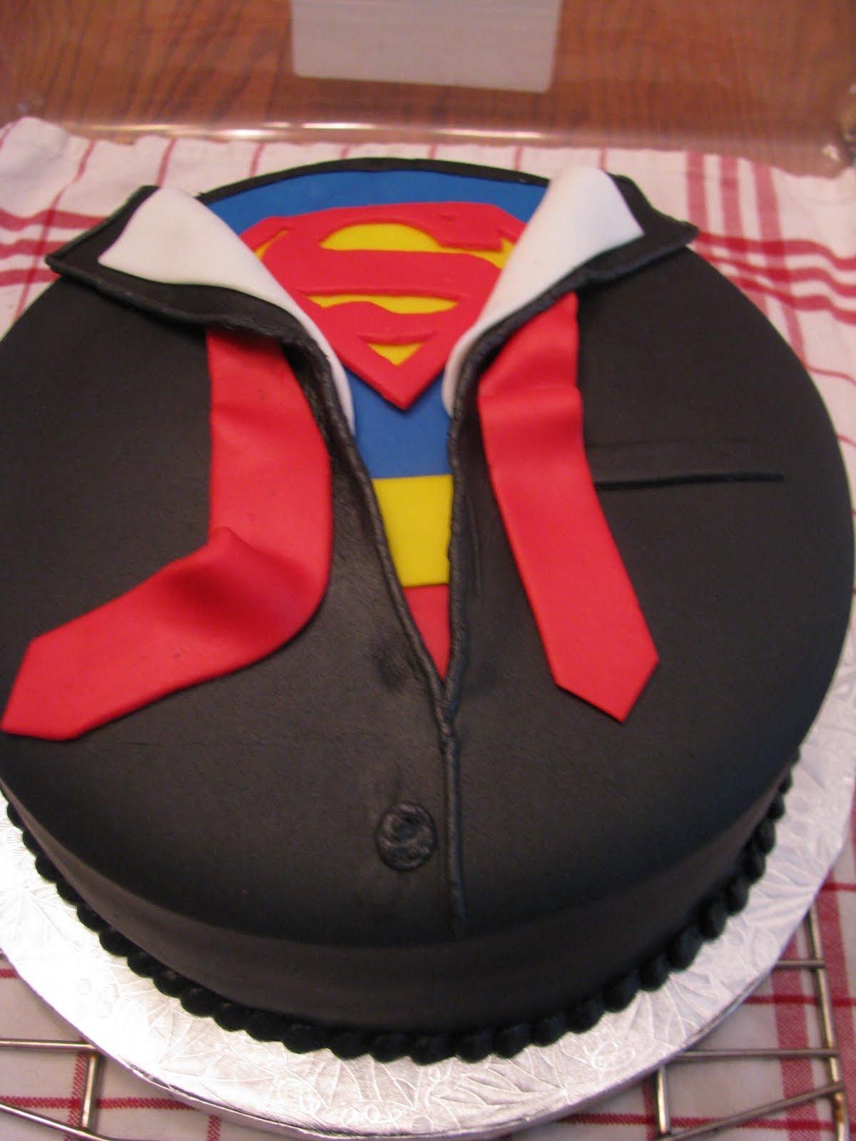 How To Make A Superman Symbol Cake