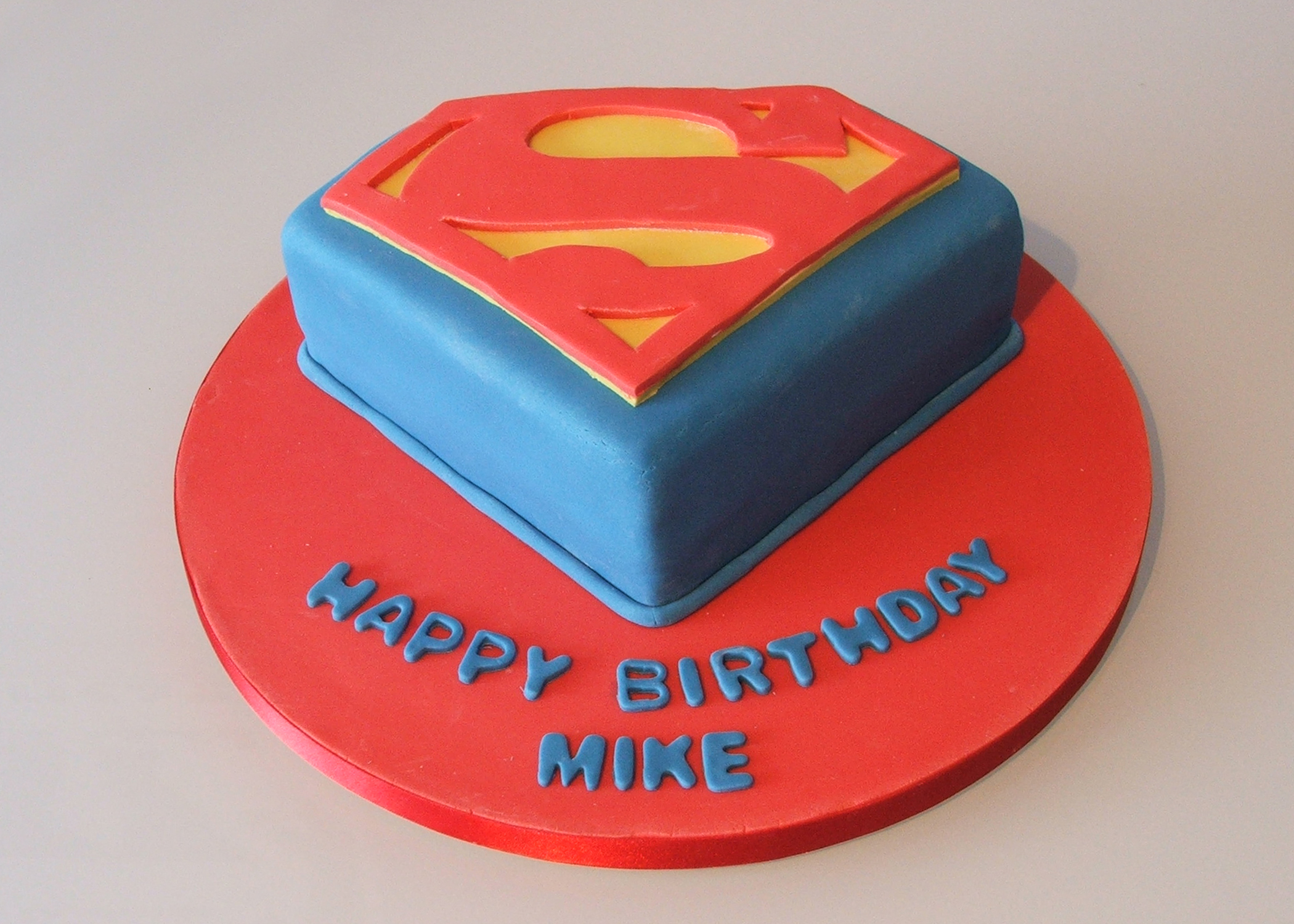 Superman Birthday Cake With Name