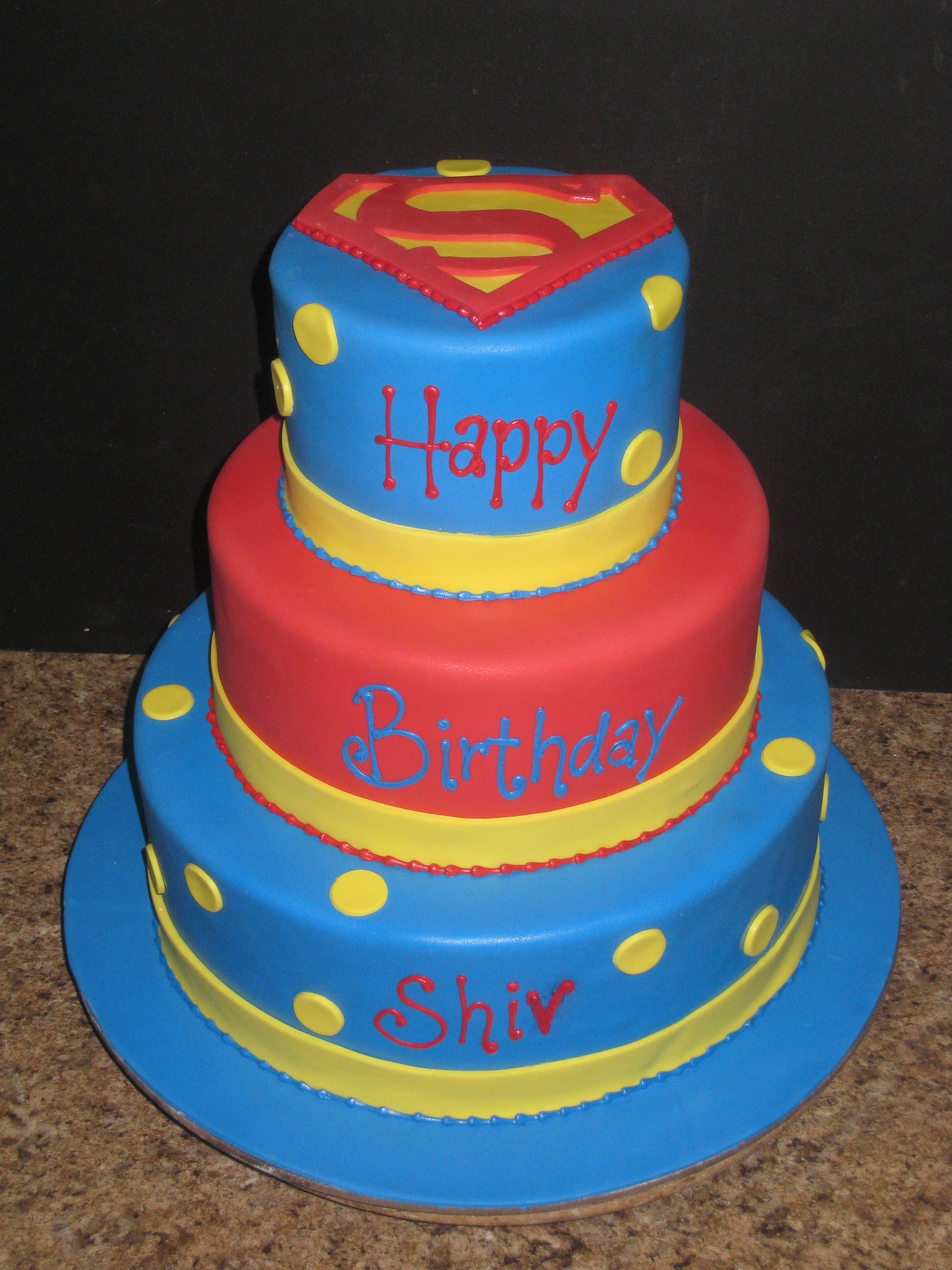 Baby Superman Cake Topper