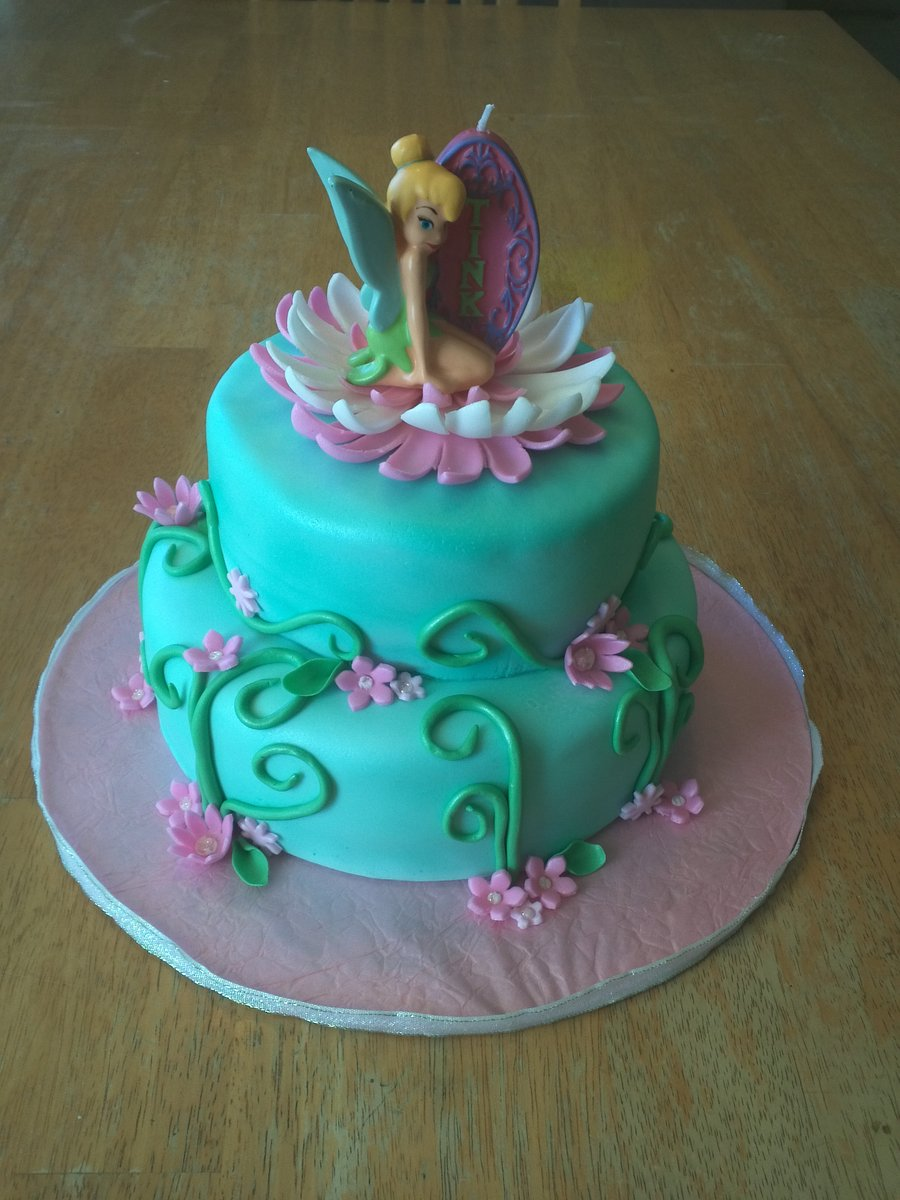 Pictures Of Tinkerbell Birthday Cakes Images