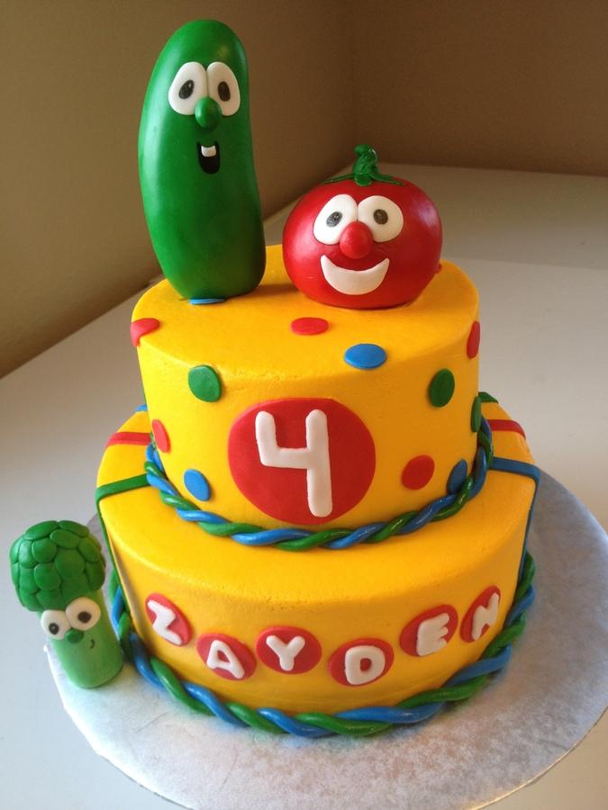 Veggie Tales Cake Topper