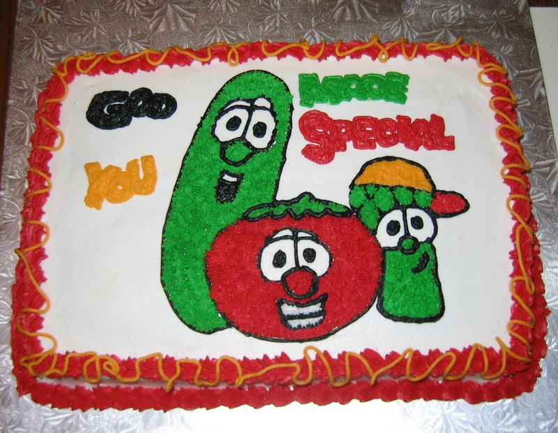 Veggie Tales Cakes Decoration Ideas Little Birthday Cakes