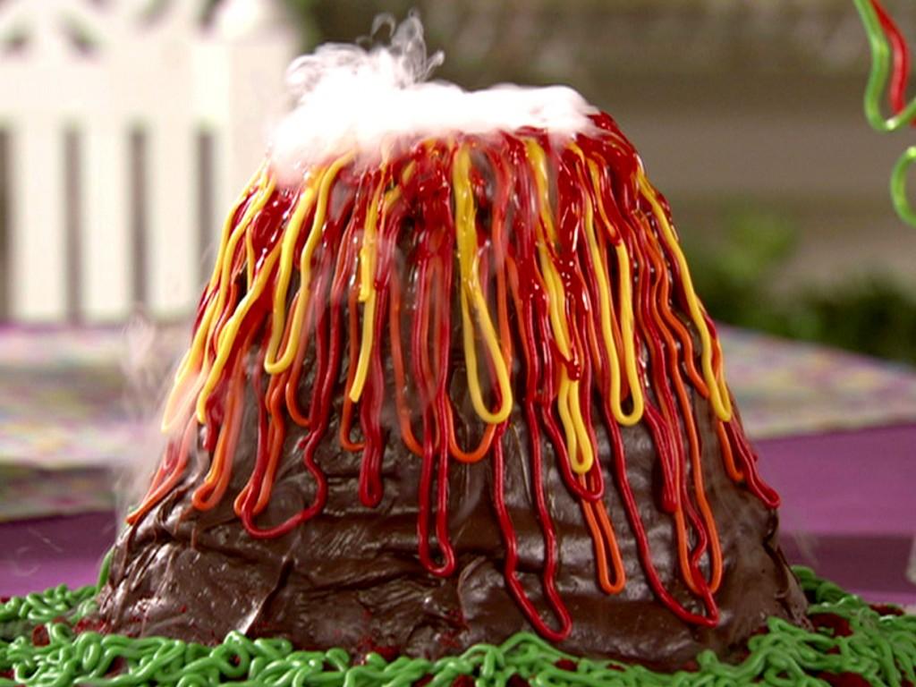 Volcano Cakes