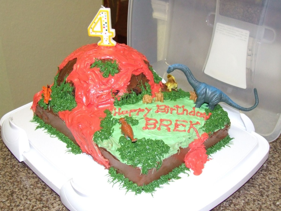 Volcano Cakes Designs