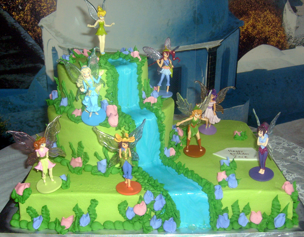 Tinkerbell And Periwinkle Cake Ideas