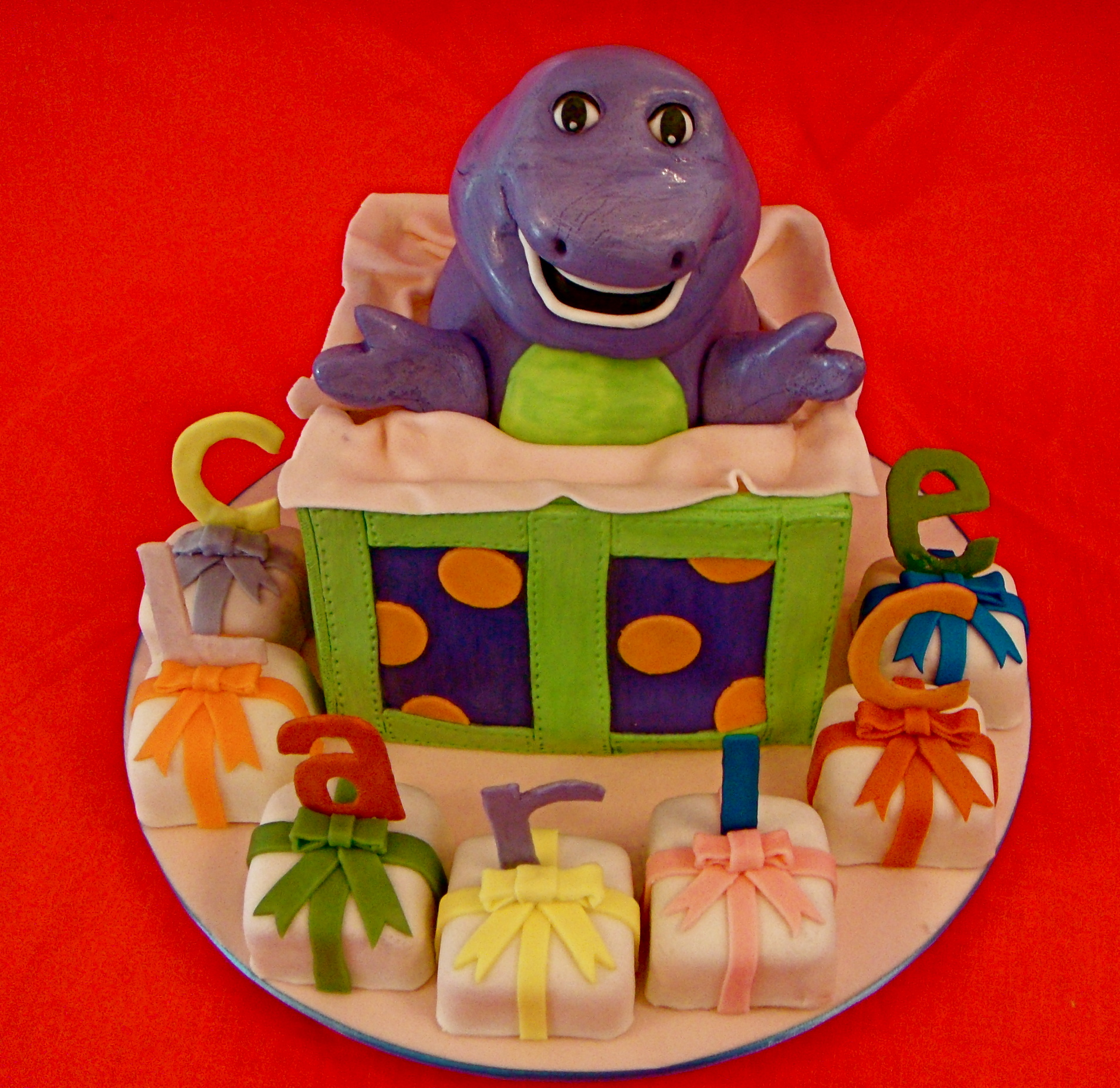 Barney And Friends Cake Designs