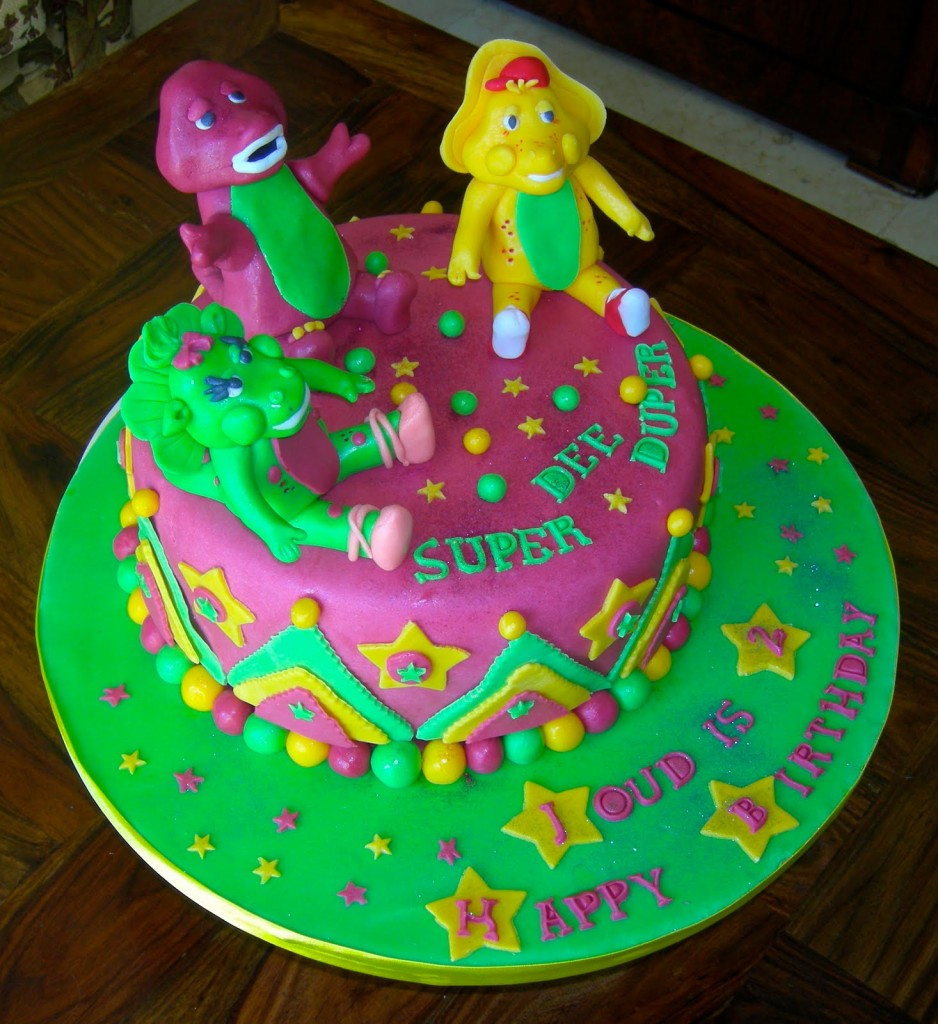 How To Make A Barney Cake Topper