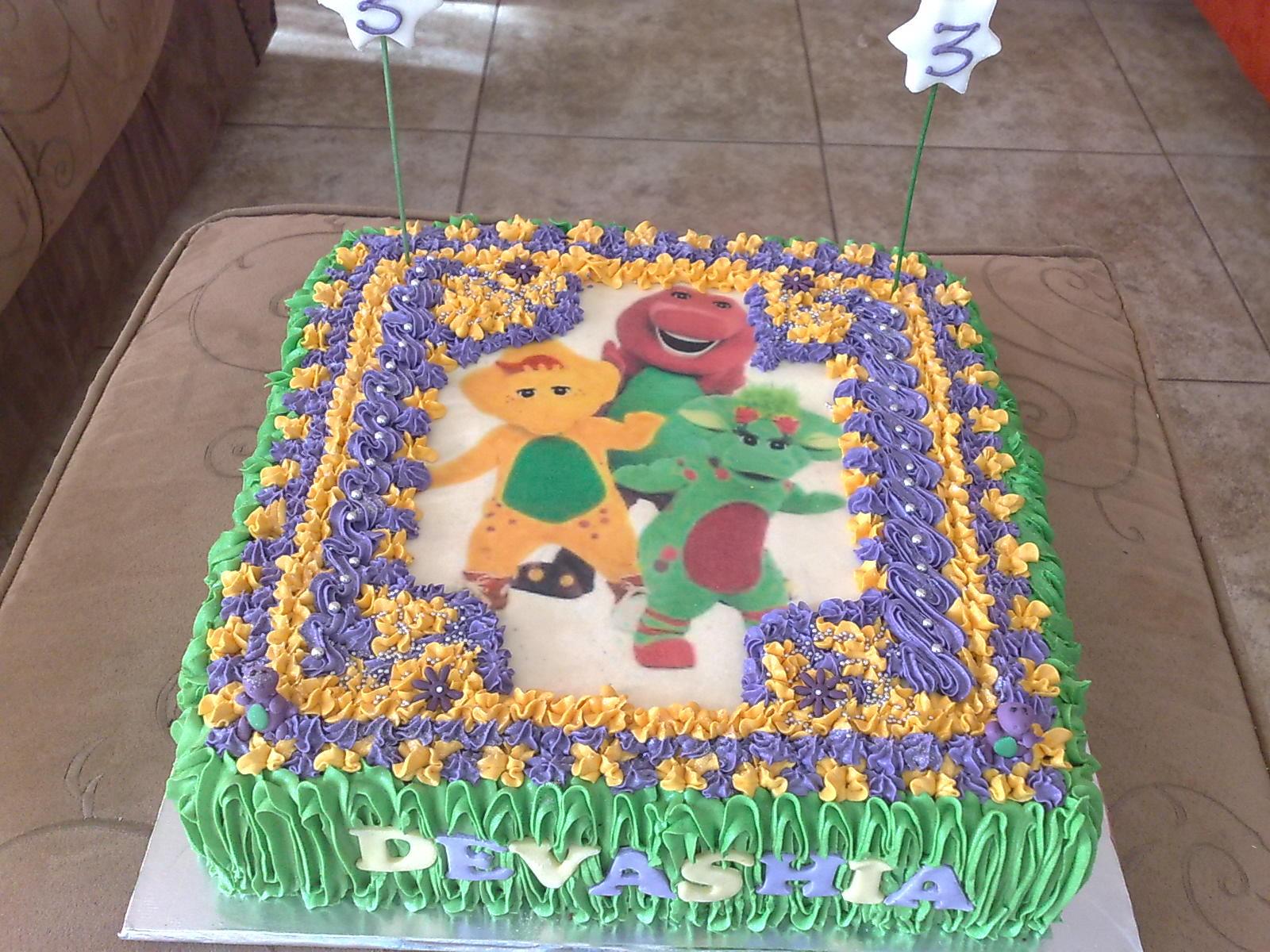 Barney Cake Decorations