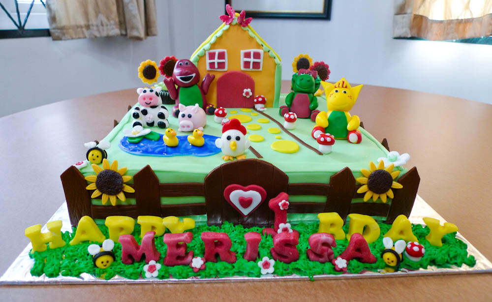 Barney Cakes Decoration Ideas Little Birthday Cakes