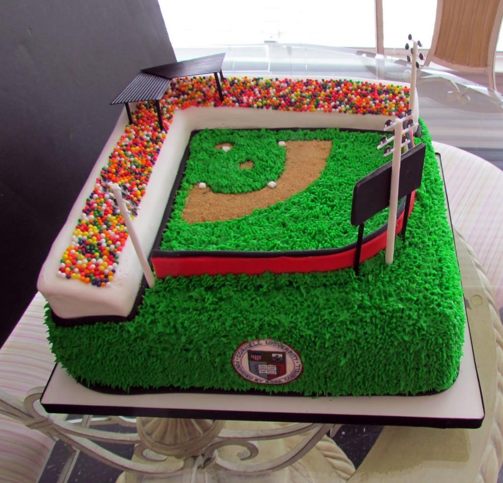 How To Make A Baseball Field Cake
