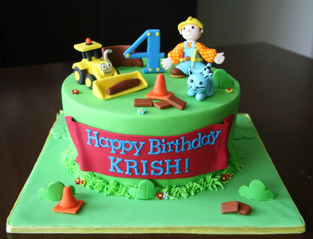 Bob The Builder Cakes  Decoration Ideas Little Birthday Cakes - Happy birthday bob cake