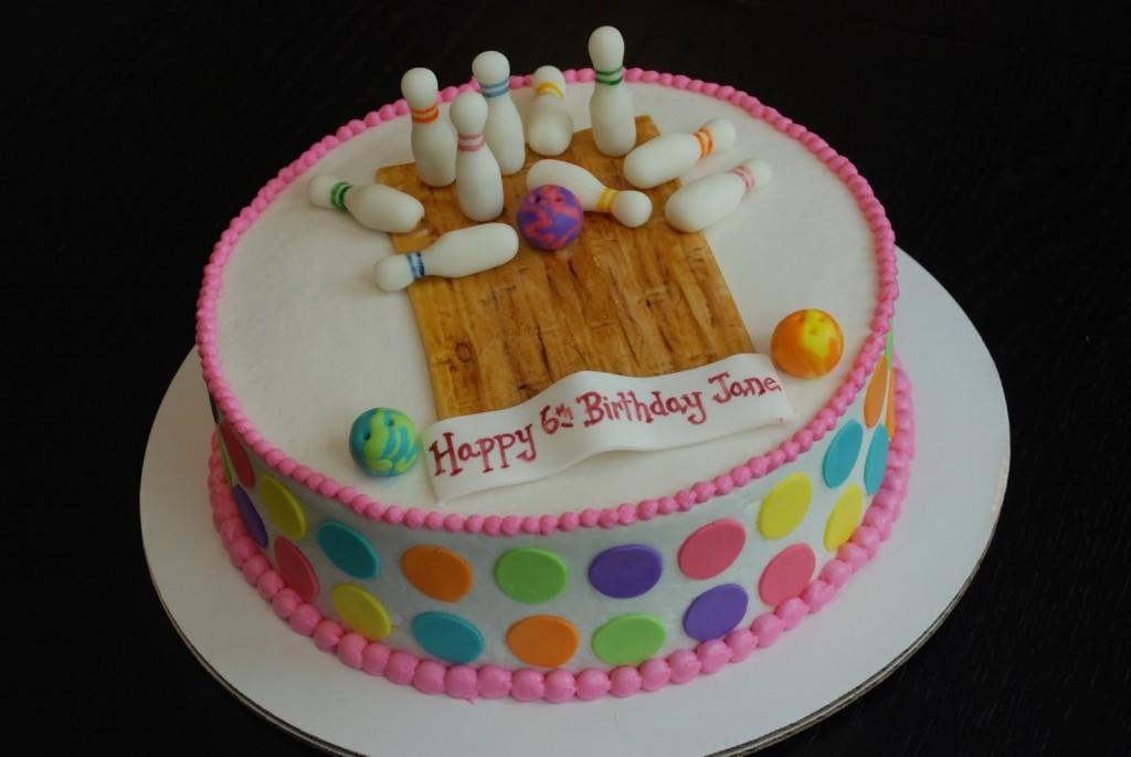 Bowling Birthday Cake Designs