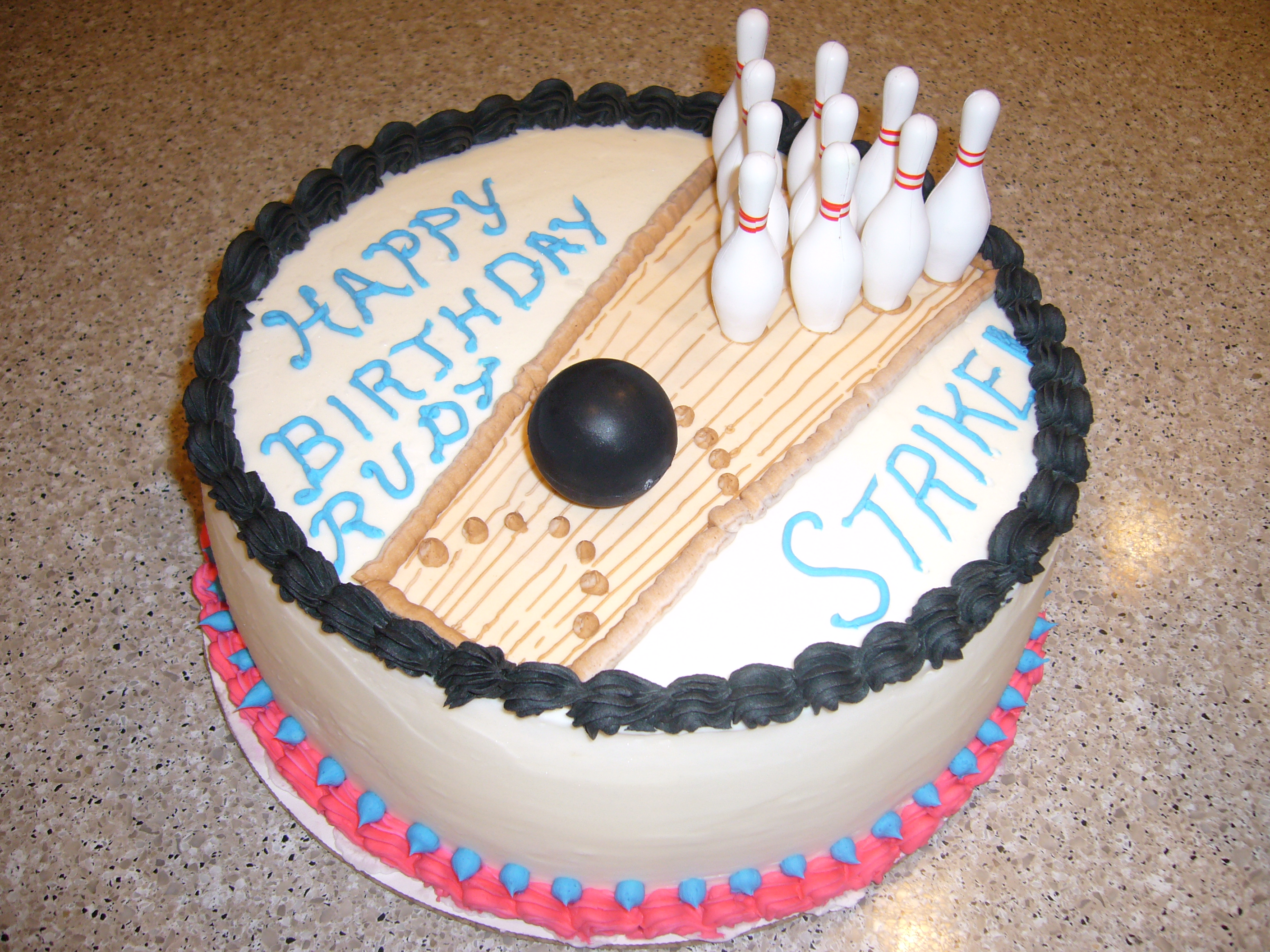 Decoration Gateau Theme Bowling