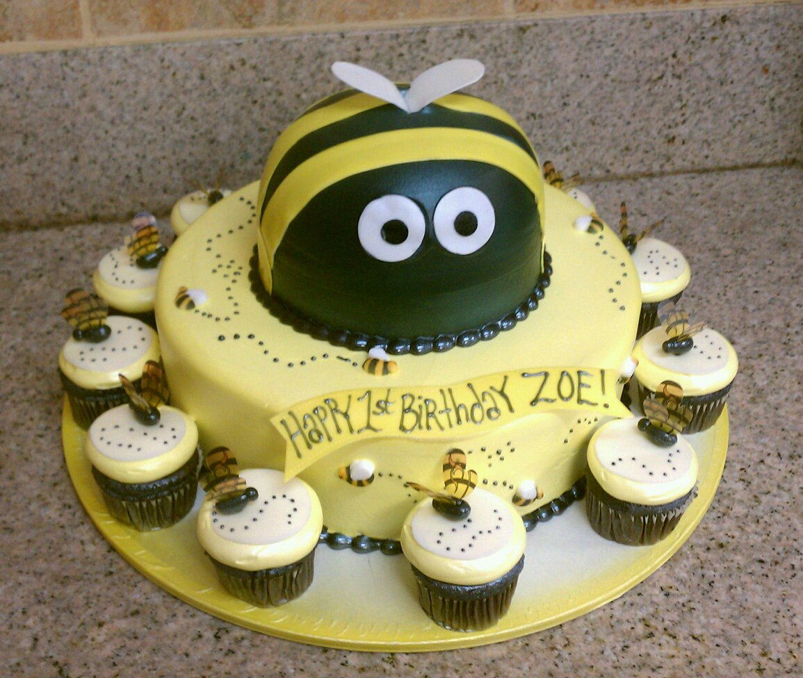Bumble Bee Cake Decorations