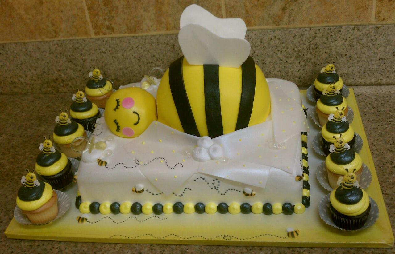 Bumble bee cakes decoration ideas little birthday cakes for Baby cakes decoration ideas