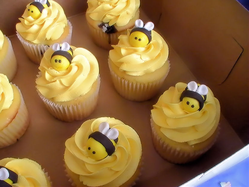Bee Cupcake Decorations