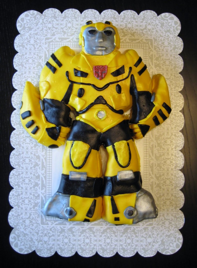 Transformer Bumblebee Cake Decorations