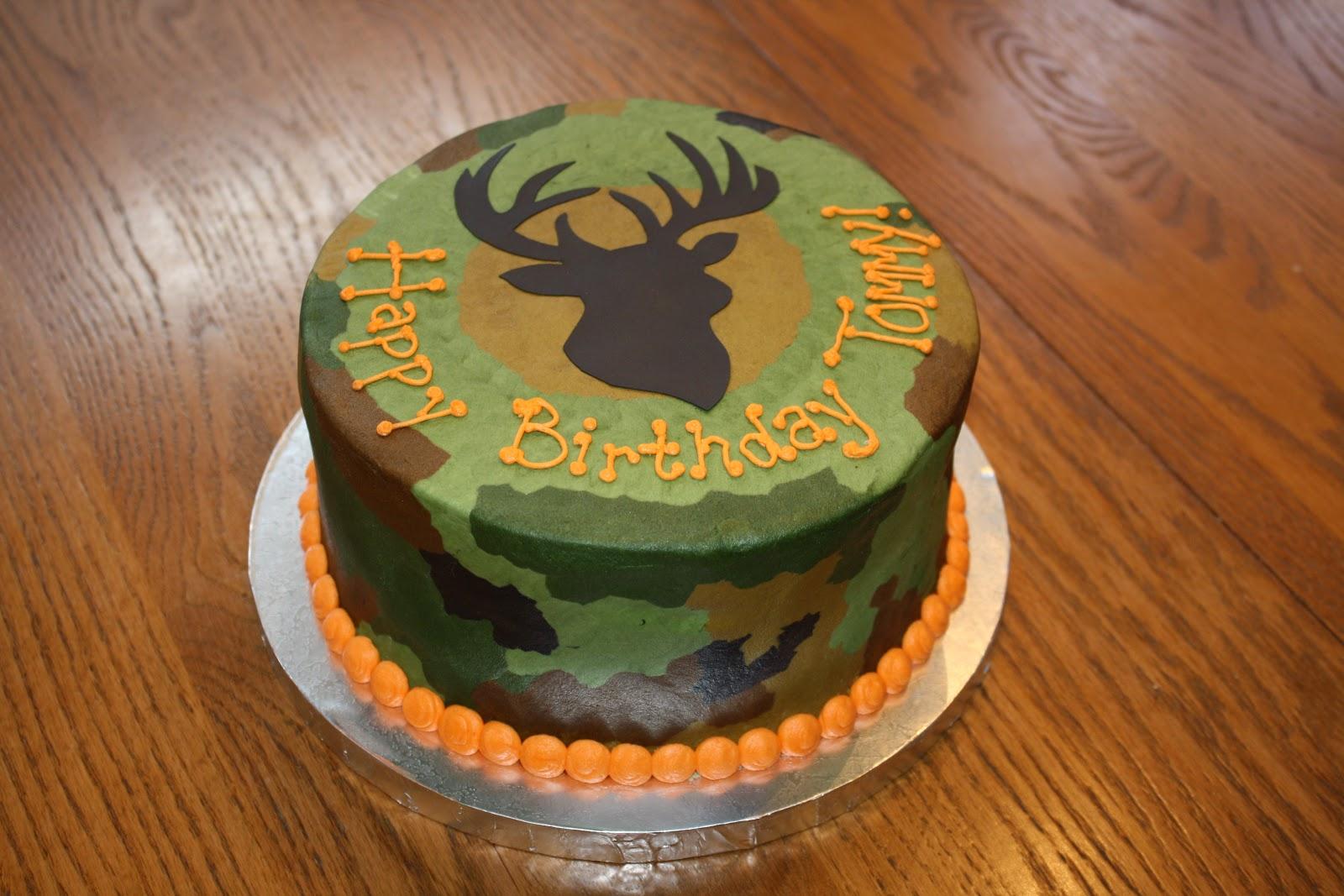 camo birthday cakes